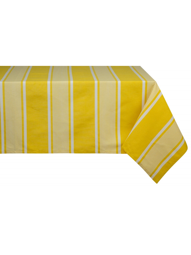 Coated tablecloth Yvonne Jaune tableware basque linen