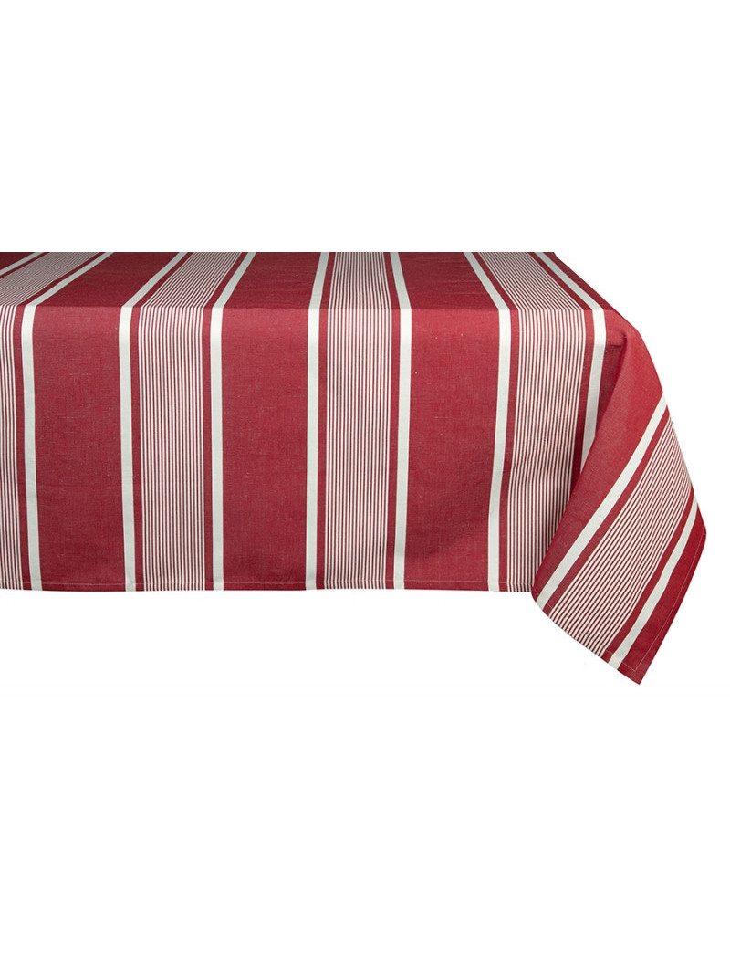 Coated tablecloth Yvonne Rouge tableware basque linen