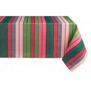 Nappe métis Eugénie Rose-Vert en tissu basque