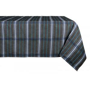 Cotton and Linen tablecloth Félix noir tableware basque linen