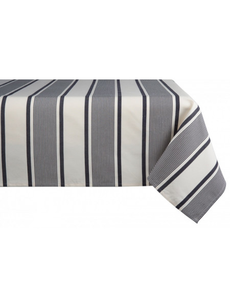 Cotton and Linen tablecloth Maïté Encre tableware basque linen