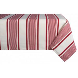 Cotton and Linen tablecloth Maïté Rouge tableware basque linen