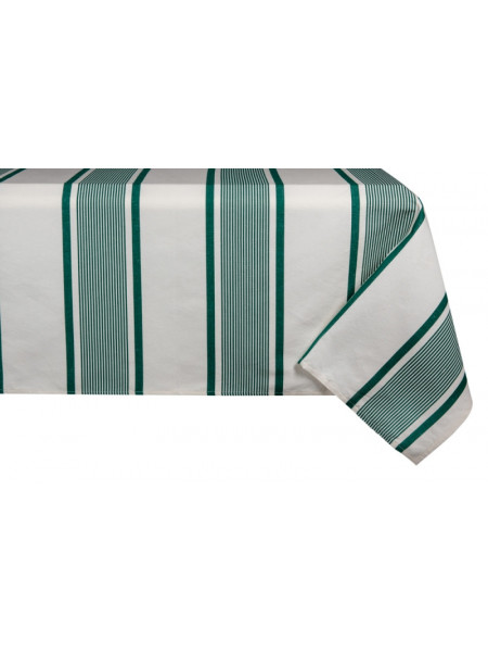 Cotton and Linen tablecloth Maïté Vert tableware basque linen