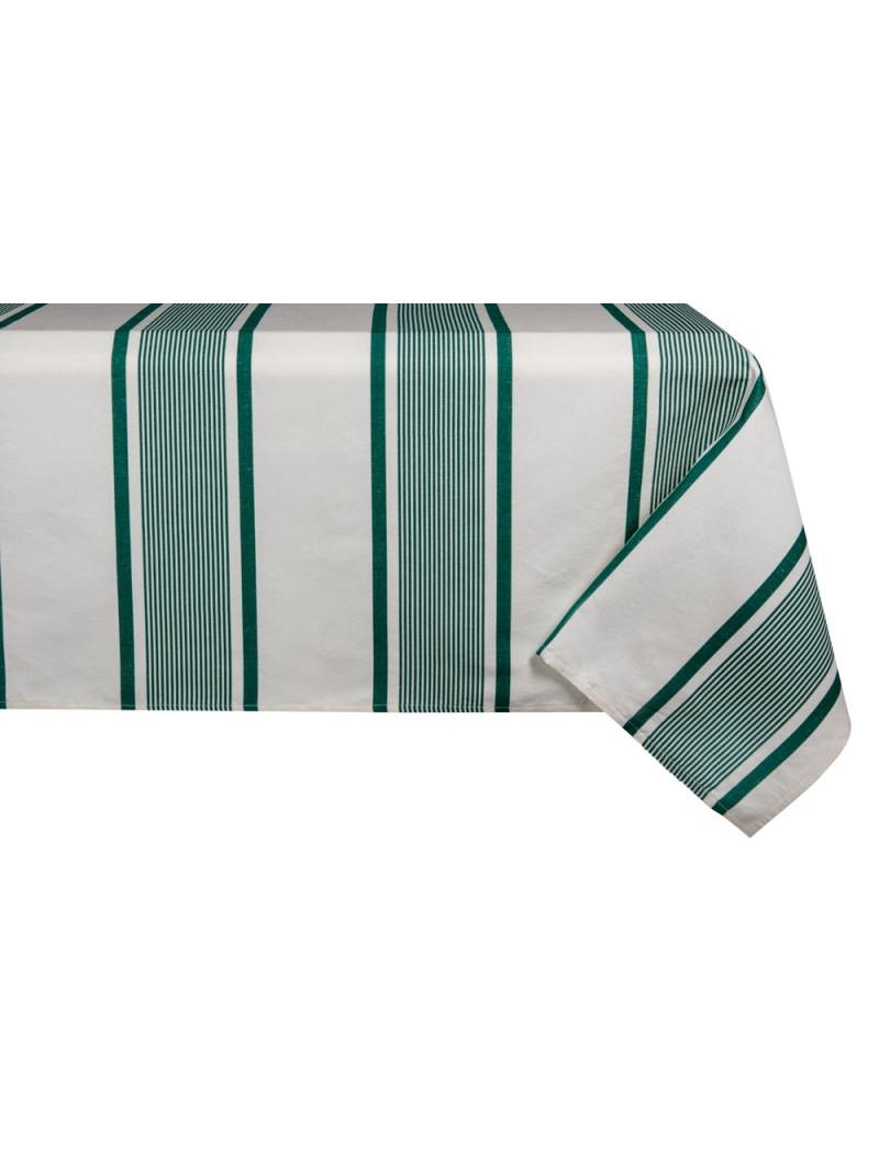 Nappe métis Maïté Vert en tissu basque