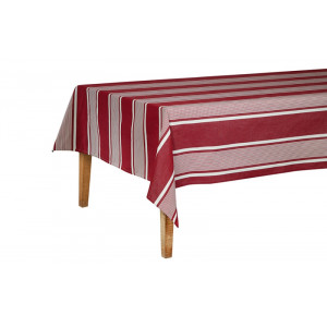 Cotton and Linen tablecloth Yvonne Rouge tableware basque linen