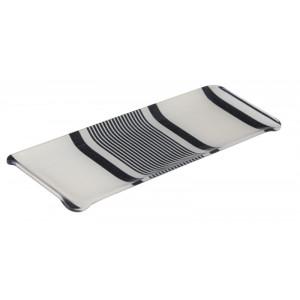 Acrylic tray Maïté Encre tableware basque linen