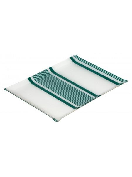 Acrylic tray Maïté Vert tableware basque linen