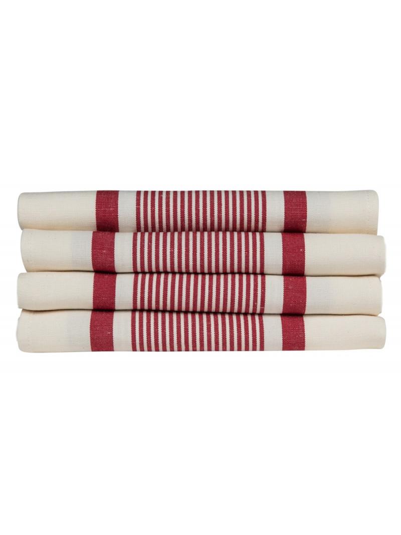 Serviette Maïté Rouge linge de table basque