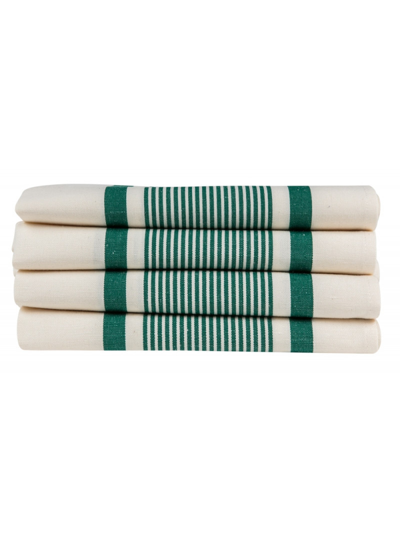 Napkins Maïté Vert- tableware basque linen