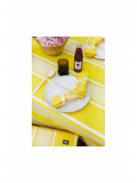 Napkins Yvonne Jaune tableware basque linen