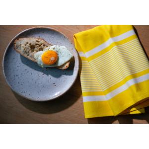 Serviette Yvonne Jaune linge de table basque