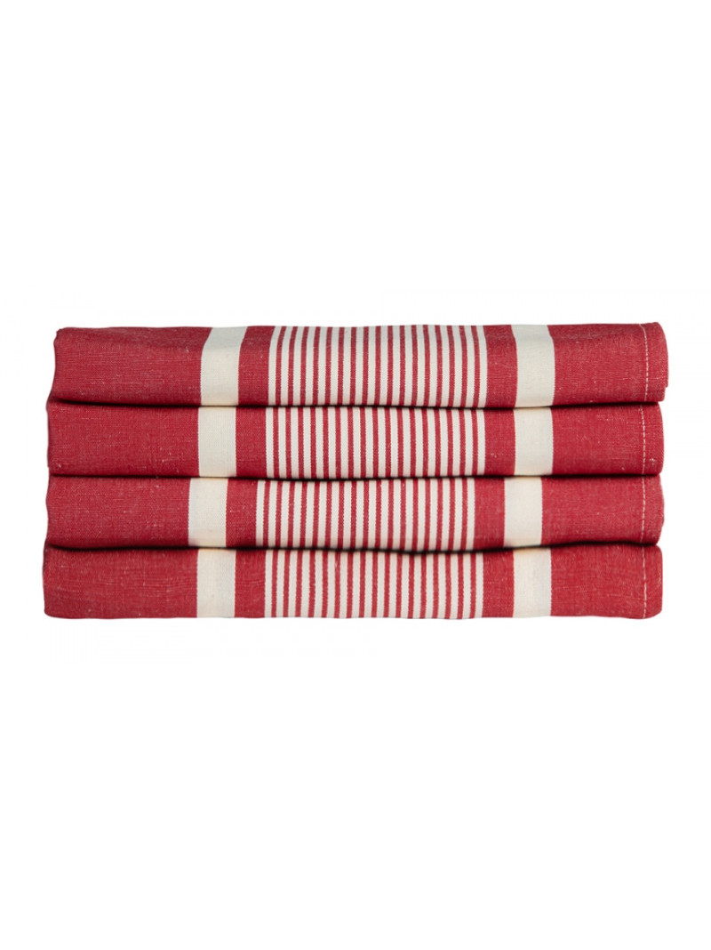 Napkins Yvonne Rouge tableware basque linen