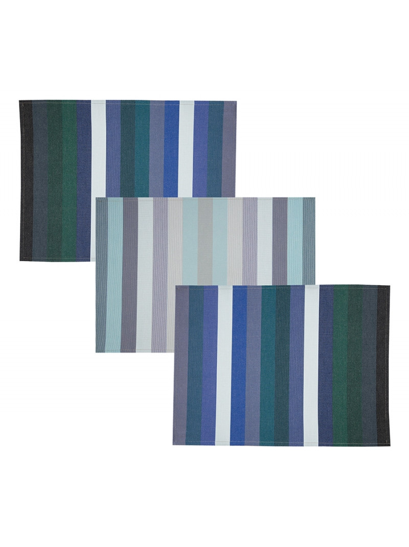 Coated placemats Alcyon tableware basque linen