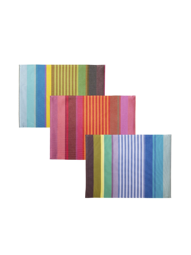Coated placemats Surfing tableware basque linen