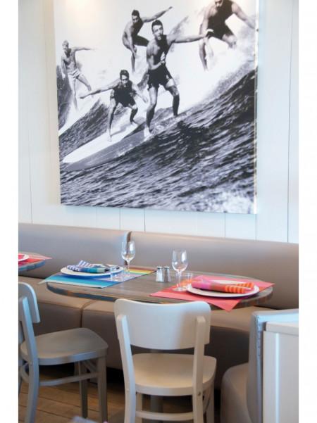 Set enduit Surfing linge de table basque
