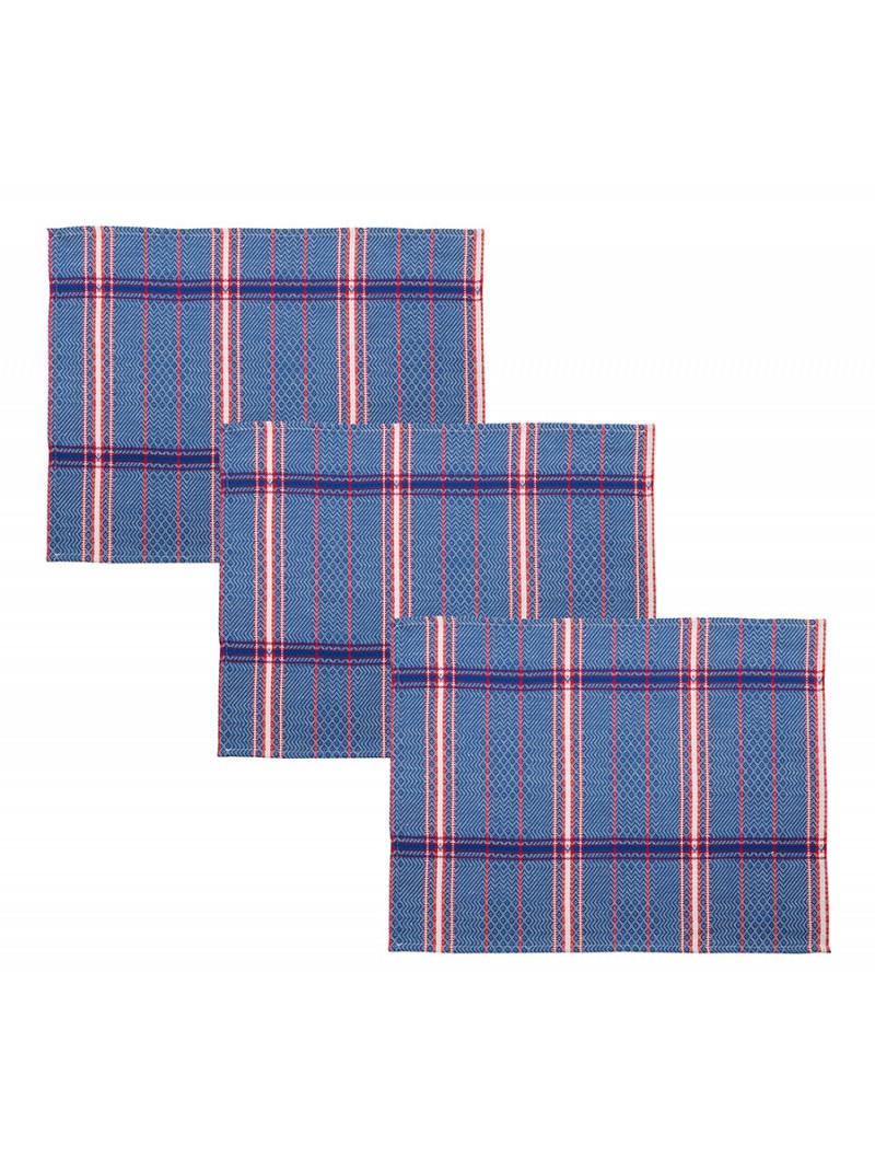 Placemats Félix Bleu tableware basque linen