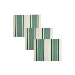 Set Maïté Vert linge de table basque