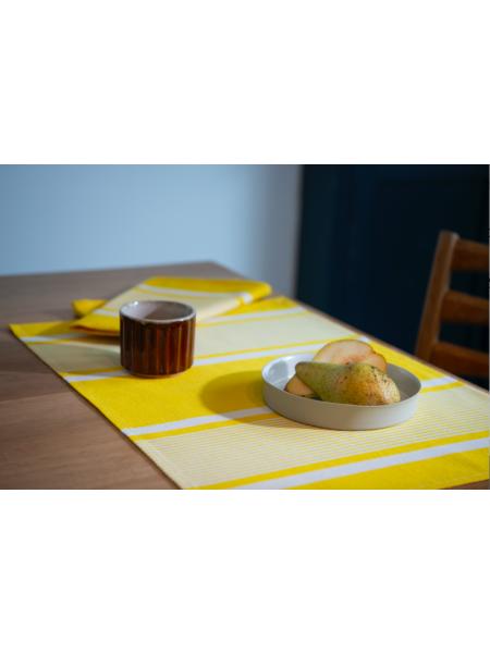 Set Yvonne Jaune linge de table basque