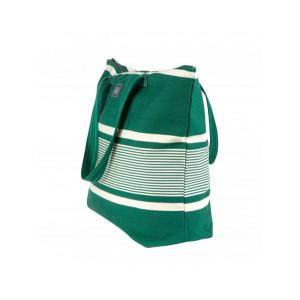 Juliette Yvonne Vert sac cabas en tissu basque