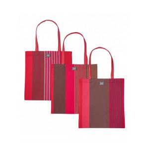 Marie Ottoman Grenade- handbag, basque linen