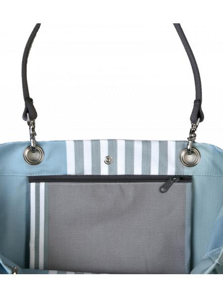 Perette Belle-île en Mer sac cabas en tissu basque