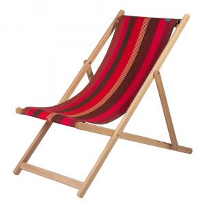 Transat Cordoba en tissu basque chaise longue chilienne basque