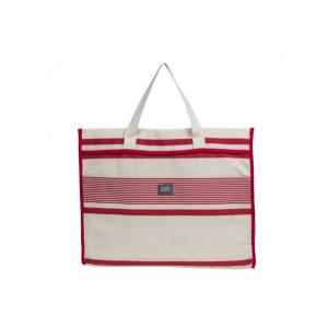 Sac Véra Maïté Rouge sac cabas en tissu basque