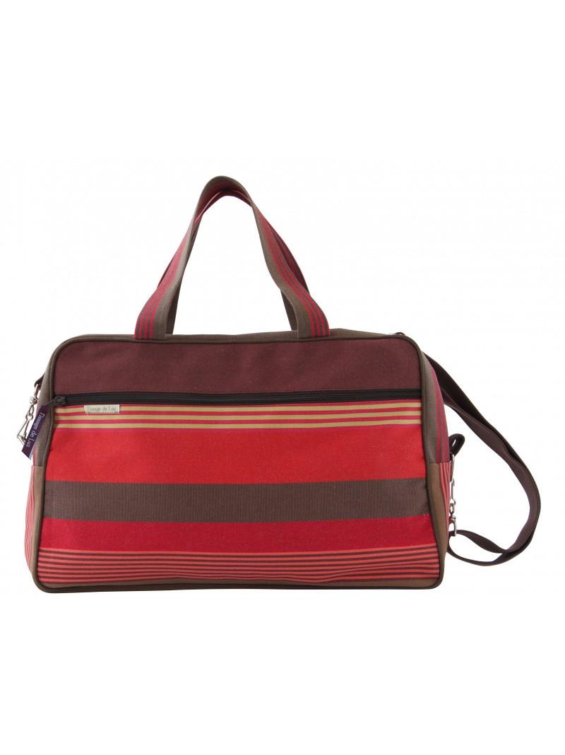 Weekend Bag Cordoba travel bag, basque linen