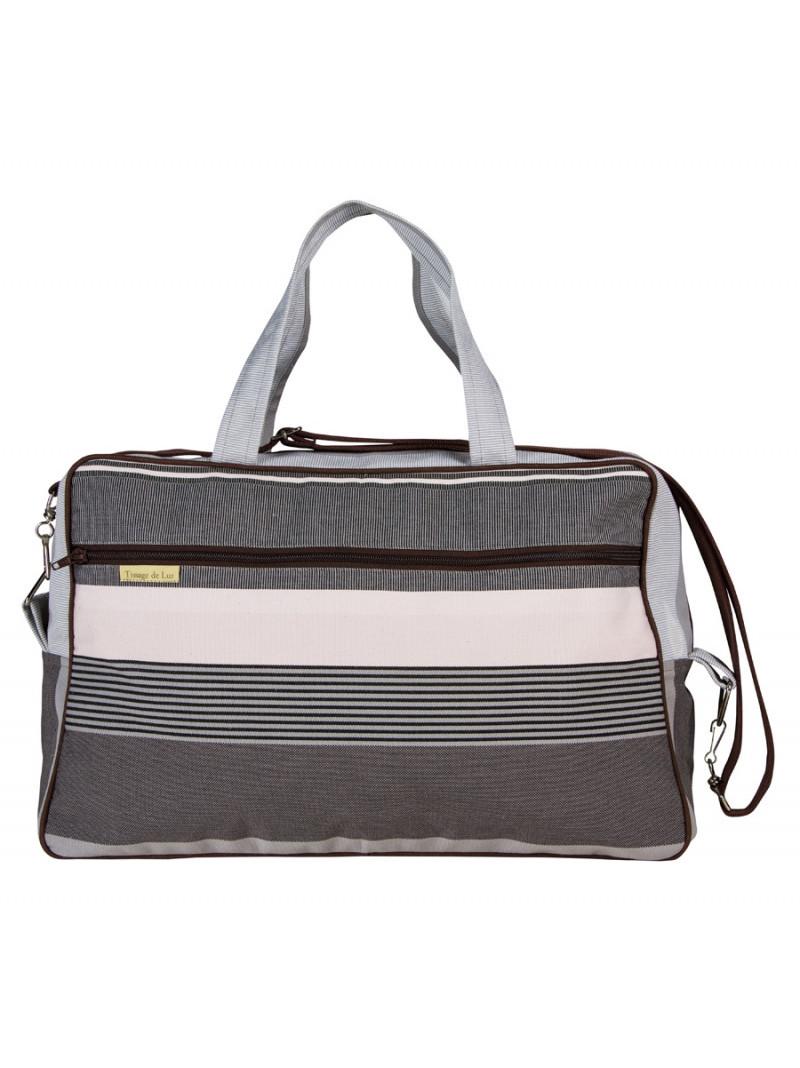 Weekend Bag Rhune- travel bag, basque linen