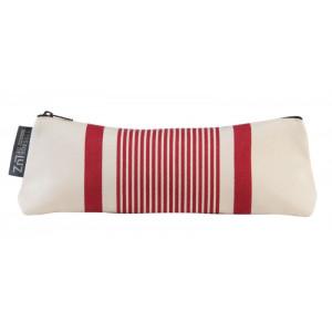 Pencil case Maïté rouge basque linen