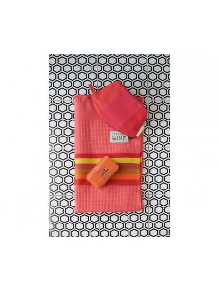 Honeycomb bath towel Capucine bathroom basque linen