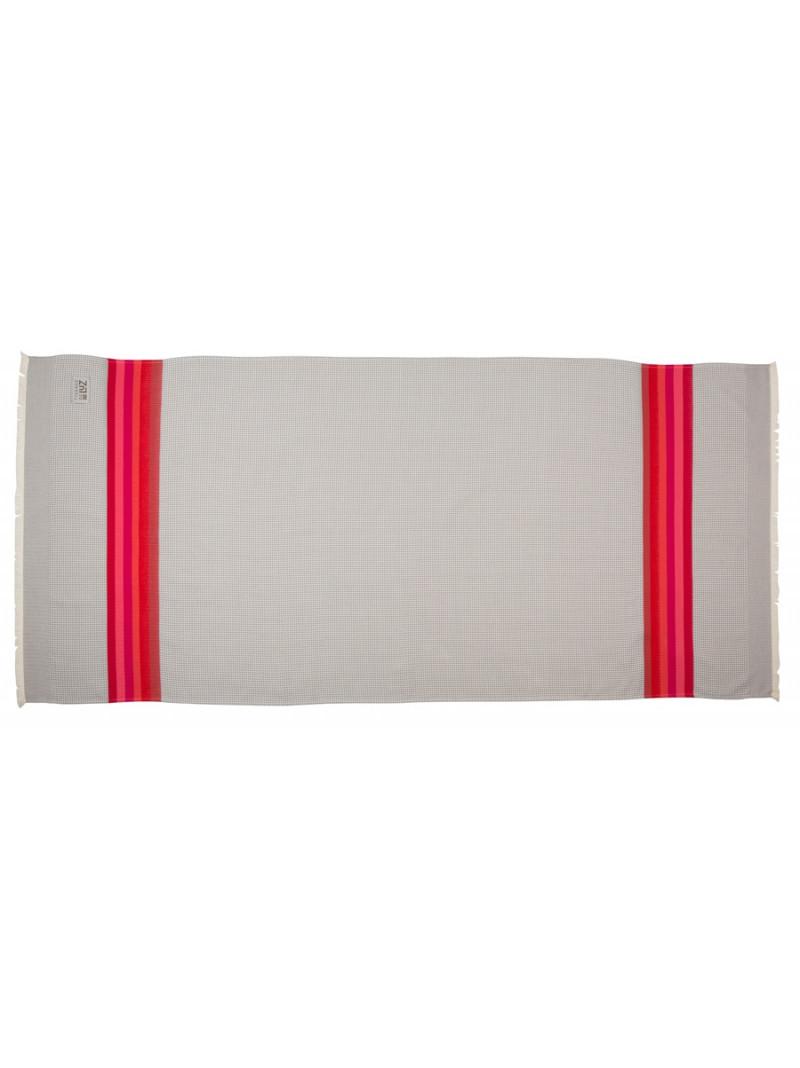 Honeycomb bath towel Gris/Rose bathroom basque linen