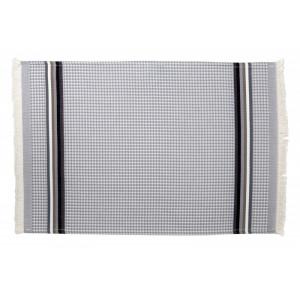 Serviette invité Gris/Perle- linge de toilette nid d abeille en tissu basque