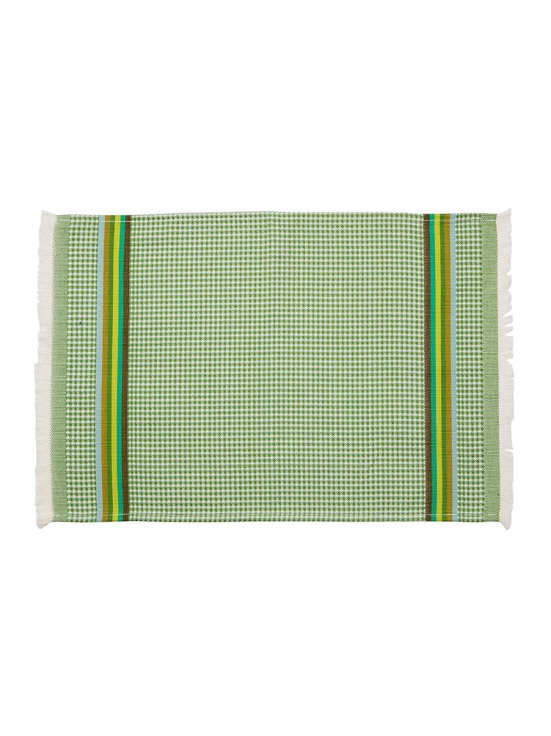Serviette invité Olive linge de toilette nid d abeille en tissu basque
