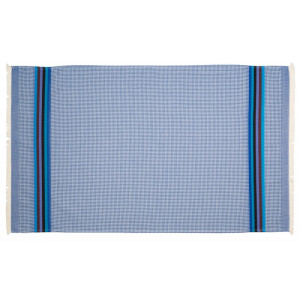 Serviette de toilette Azur linge de toilette nid d abeille en tissu basque