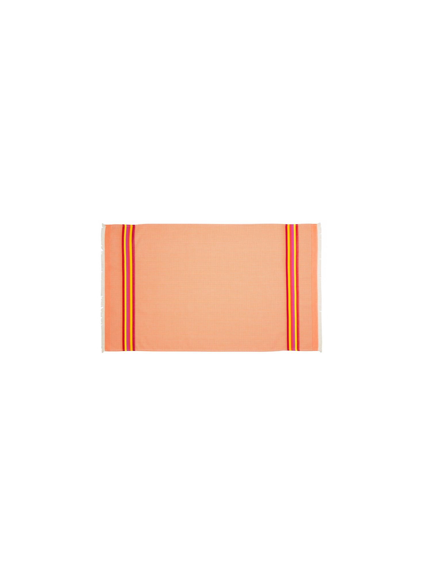 Serviette de toilette Mandarine linge de toilette nid d abeille en tissu basque
