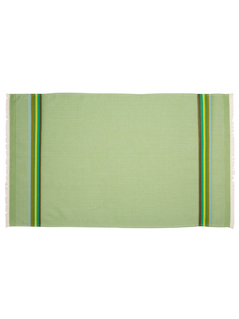 Serviette de toilette Olive linge de toilette nid d abeille en tissu basque