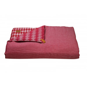 Courtepointe Losange Rouge & Toile Rouge
