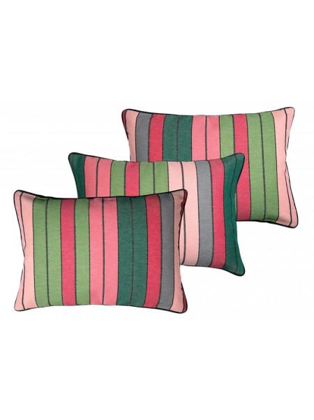 Cushion cover with zipper Eugénie Rose/Vert basque household linen