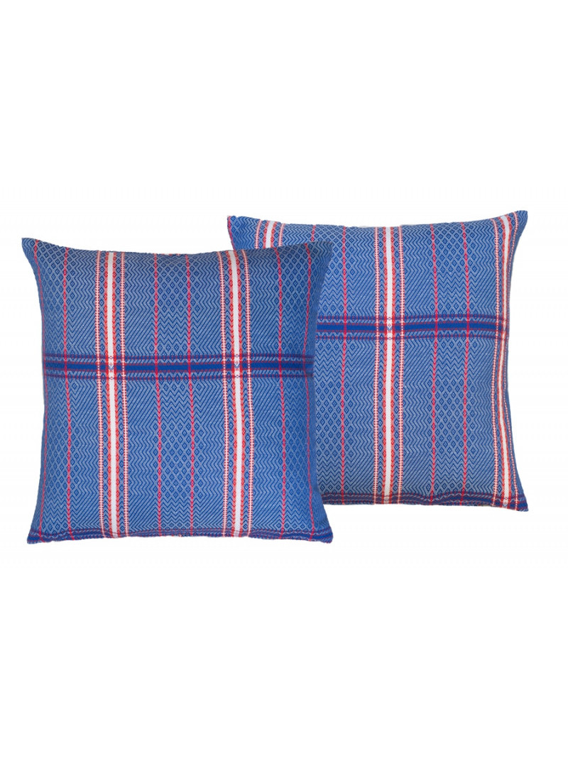 Cushion cover with zipper Félix Bleu basque household linen