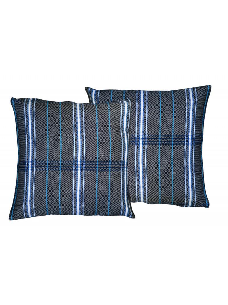 Cushion cover with zipper Félix Noir basque household linen