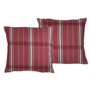 Cushion cover with zipper Félix Rouge basque household linen