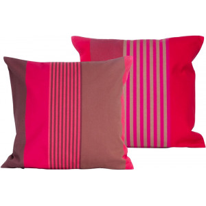 Cushion cover with zipper Ottoman Grenade basque household linen