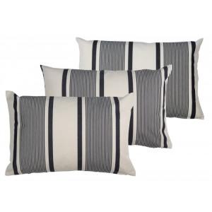 Cushion cover with zipper Maïté Encre basque household linen