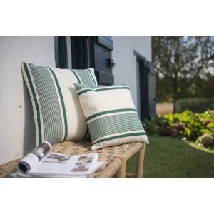 Cushion cover with zipper Maïté Vert basque household linen