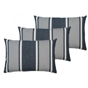 Cushion cover with zipper Yvonne Denim basque household linen