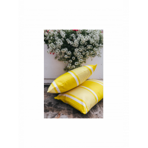 Cushion cover with zipper Yvonne Jaune basque household linen