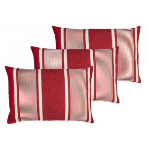 Cushion cover with zipper Yvonne Rouge basque household linen