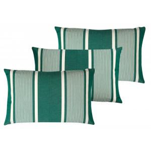 Cushion cover with zipper Yvonne Vert basque household linen