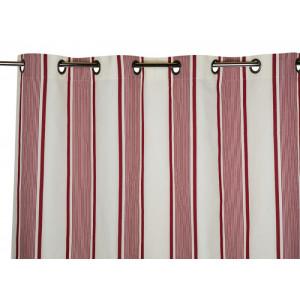 Rideau Maïté Rouge- rideaux, linge de maison basque
